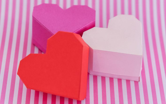 DIY Heart Shaped Paper Box