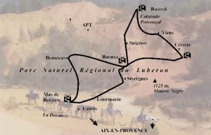 Itinéraire rando colorado provencal