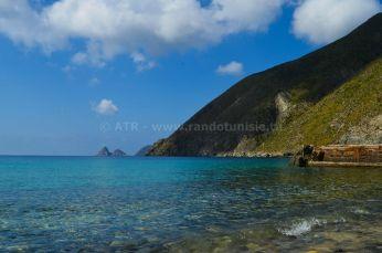 1er partie escapade de 3 jours à l'archipel de la Galite - vue sur l'ile
