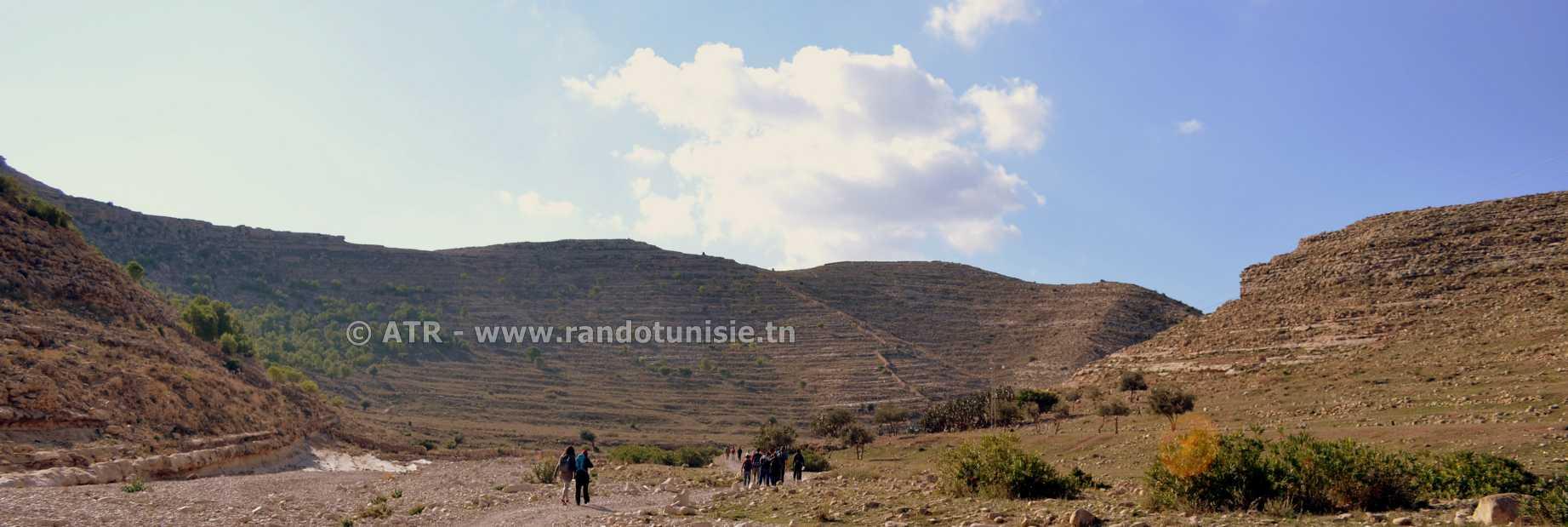 Randonnée à Ain Khanfous Oueslatia - paysage