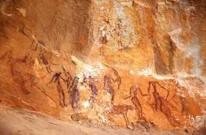 Circuit randonnée Ain Khanfous Oueslatia - peinture rupestre