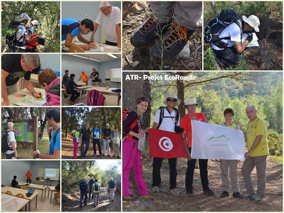 """formation de l'équipe de l'ATR pour obtenir le brevet fédéral """"animateur de montagne niveau 2"""" avec la fédération française de la randonnée pédestre"""