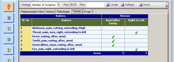 Themes: Desirable Features of Homeopathic Software – Part 2