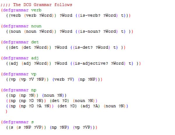 DCG Grammar