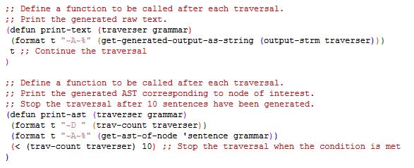 Custom Traversal Functions