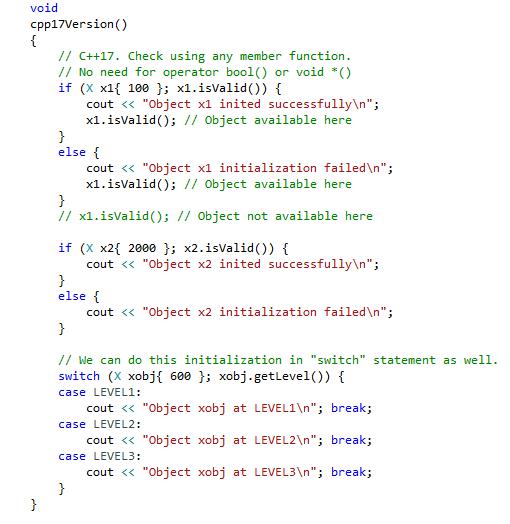C++17 Model