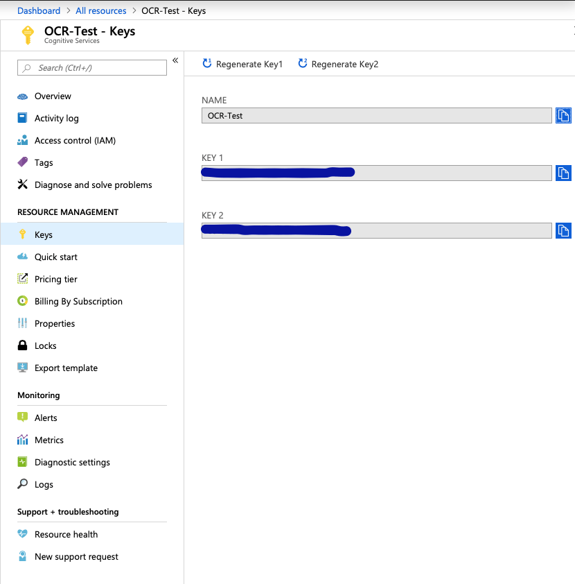 OCR Using Azure Computer Vision API : Rangarajan