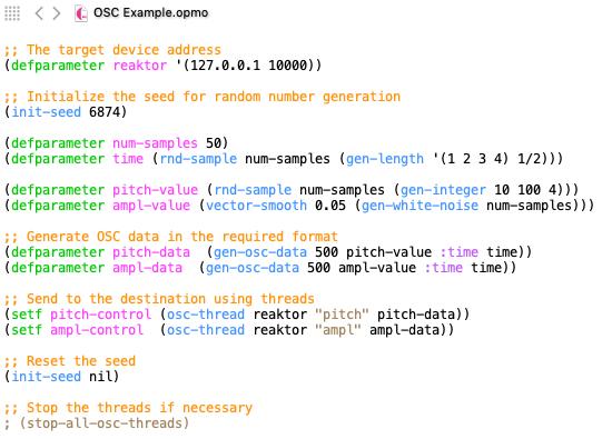 "Using ""gen-osc-data"" Function"