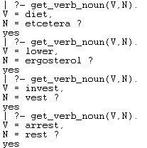 <Verb, Noun> Word Pairs