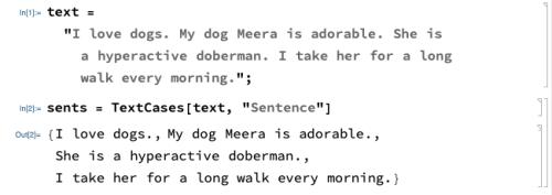 Extracting Sentences
