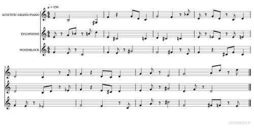 Generated Music - MusicXML