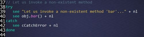 Invoking an Undefined Method