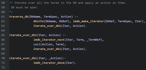 Code to Traverse the DB