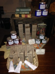 Our Elizabeth w product table - it smells SO good!