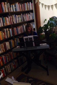 Kaylie on piano
