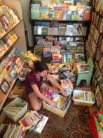 Abby's summer job - orgainize the kid's section!