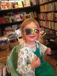 Rainbow glasses are way better than rose colored for Emma!