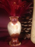 One-of-a-kind turned wood vase by Janet Guglielmino.
