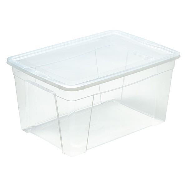 boite de rangement avec couvercle pour couvertures et couettes 43 litres