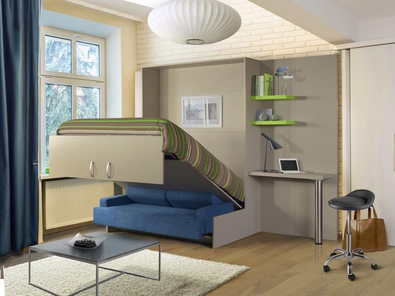 lit escamotable blanc avec sofa nantes rangeocean