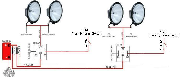 how to wire kc lights centralroots com rugged ridge hid lights wiring harness for 4 off road lights diagrams schematics