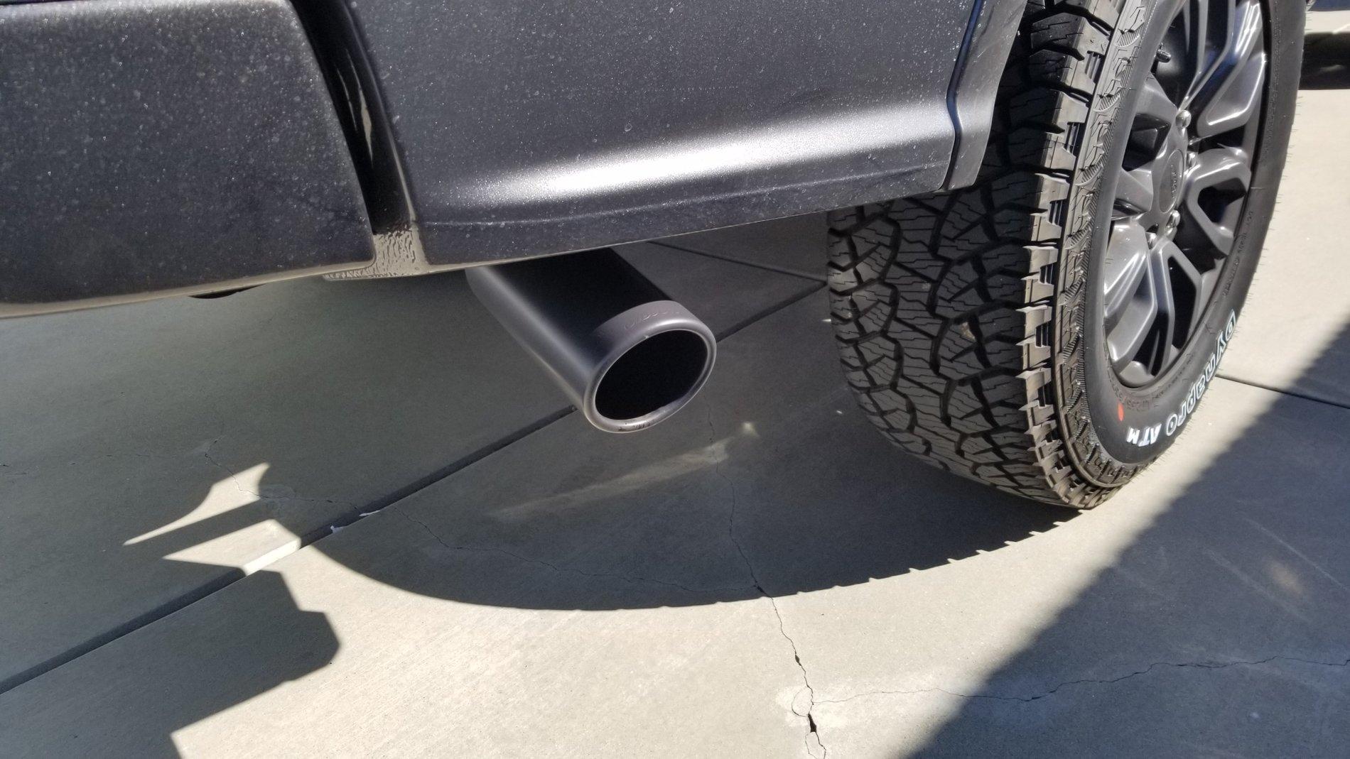 black exhaust tips 2019 ford ranger