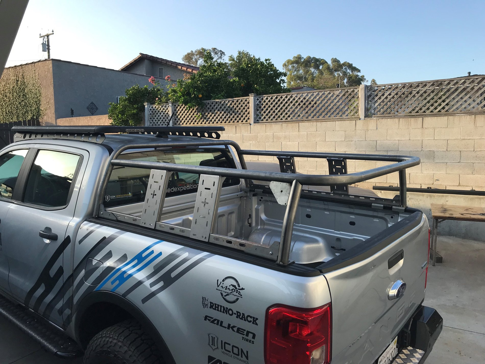 prototype bed rack for roof top tent