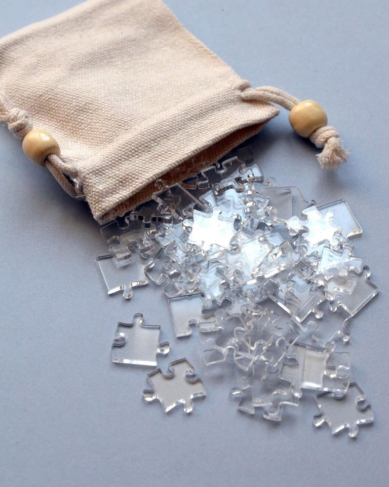 Puzzle transparent Clear jigsaw