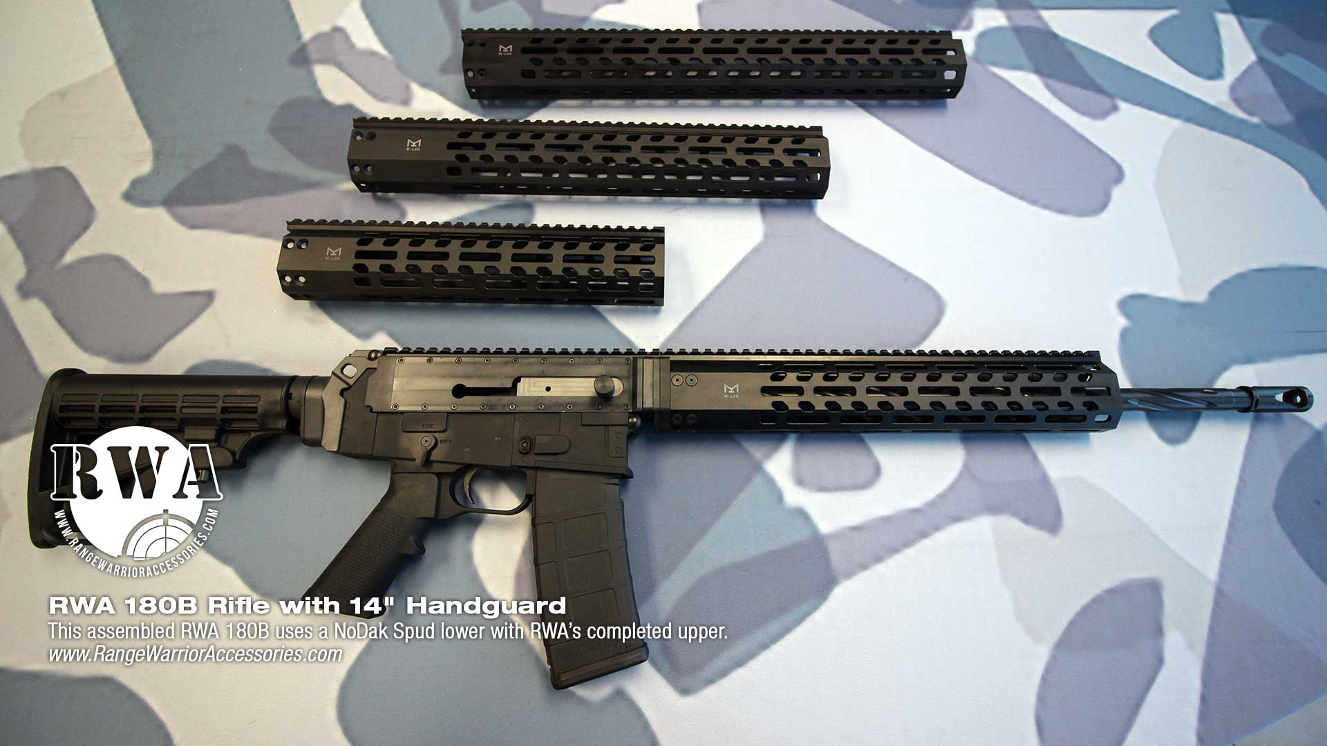 RWA AR 180B Rifle with 14-inch handguard