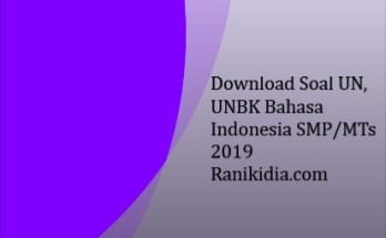Download Soal UN, UNBK Bahasa Indonesia SMP/MTs 2019