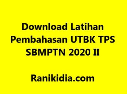 Download Latihan, dan Pembahasan UTBK TPS SBMPTN 2020