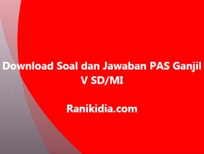 Download Soal dan Jawaban PAS Ganjil V SD/MI 2019