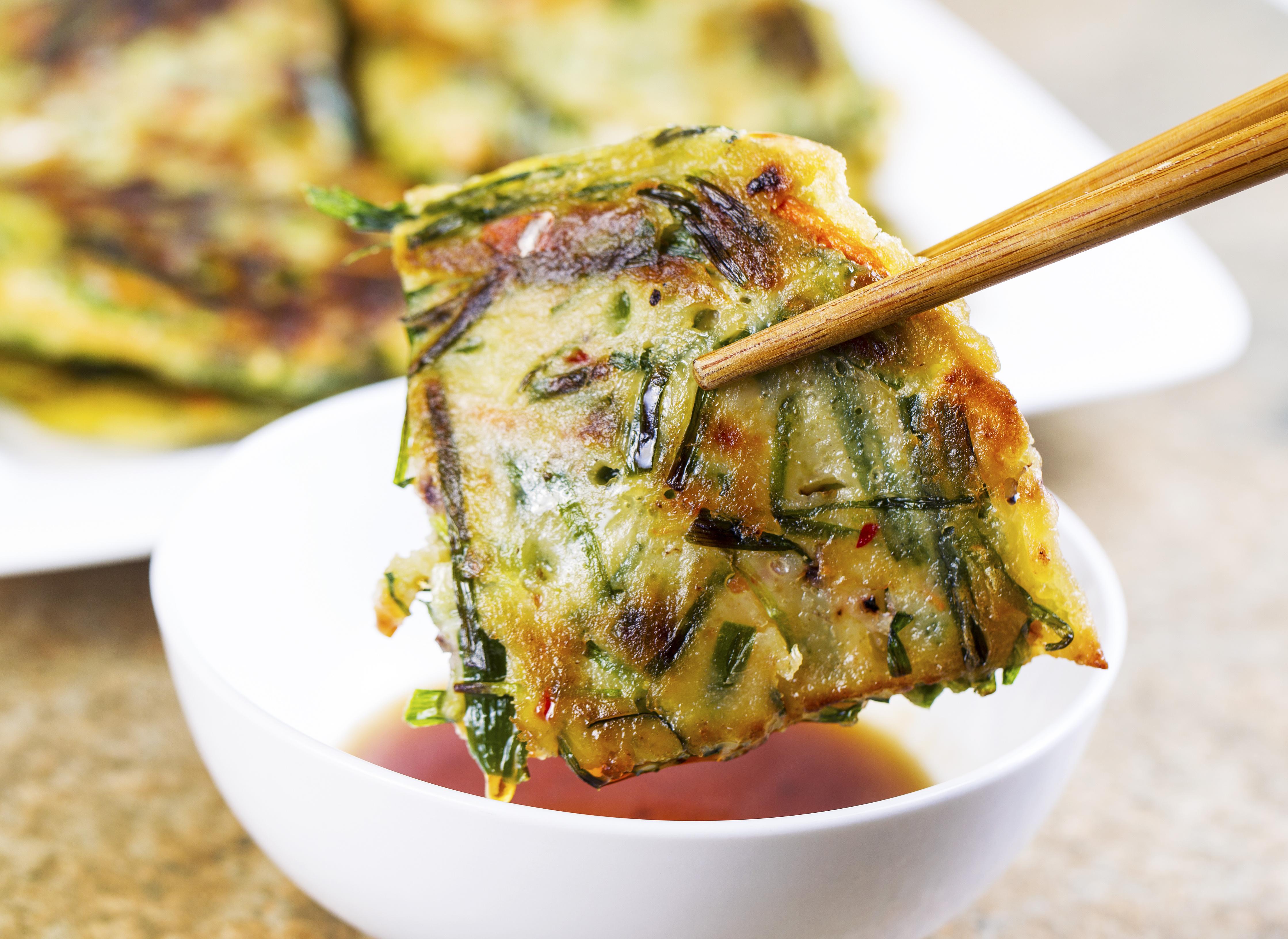 Asian green onion pancakes