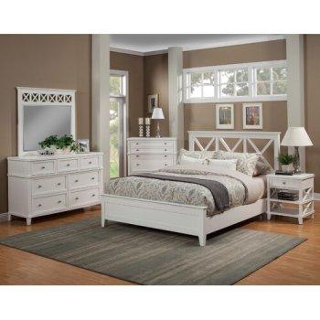 Set Kamar Tidur Minimalis Putih Anne
