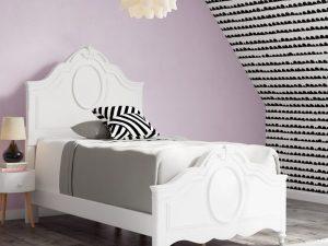 Tempat Tidur Modern Duco Putih Cricklade