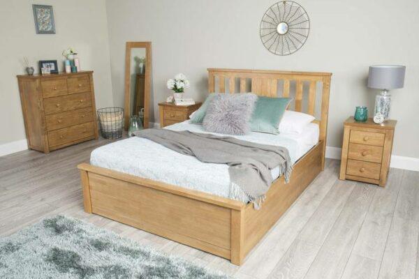 Tempat Tidur Jati Minimalis Chester Queen