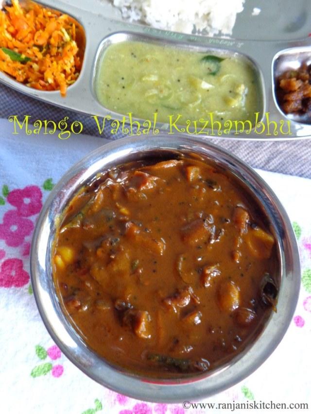 Mango vathal kuzhambu recipe