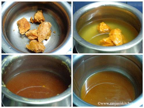 mango pachadi with jaggery