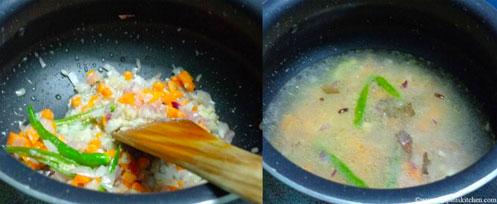 home made peas pulao