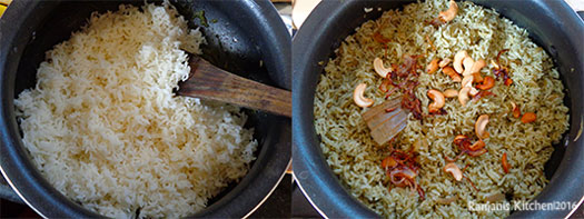 pudina-rice-making