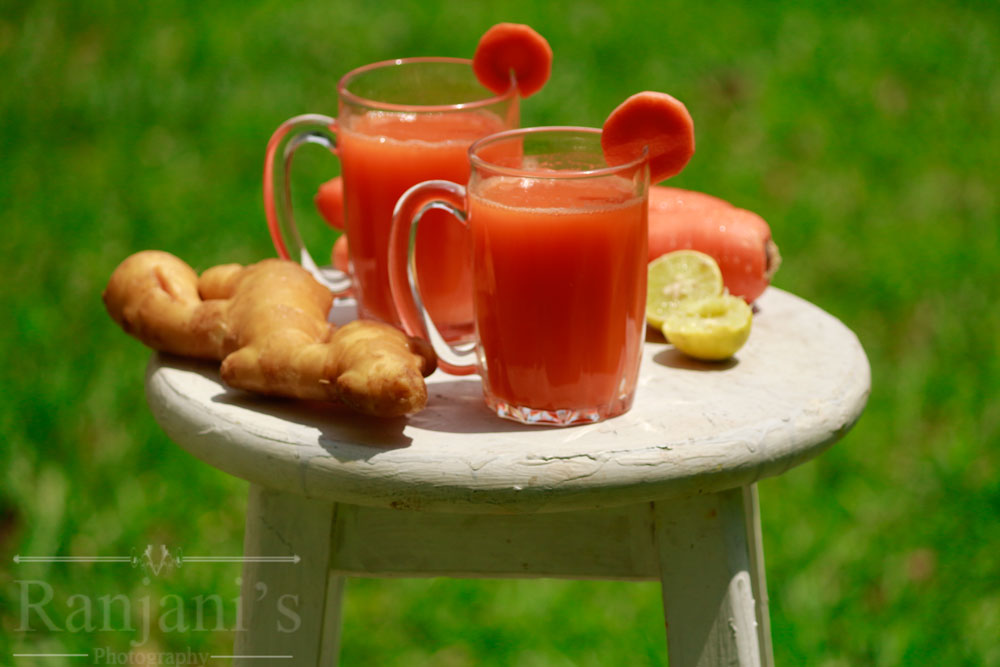 Carrot juice recipe | How to make carrot ginger juice