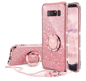 oxyclone glitter case with ring and kickstand for girls
