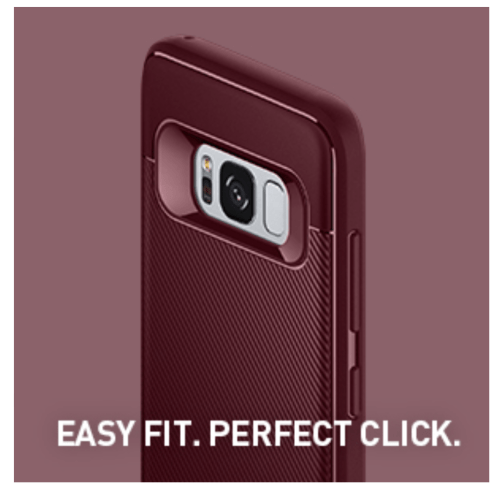 Caseology Vault II case Easy to install for samsung S8+
