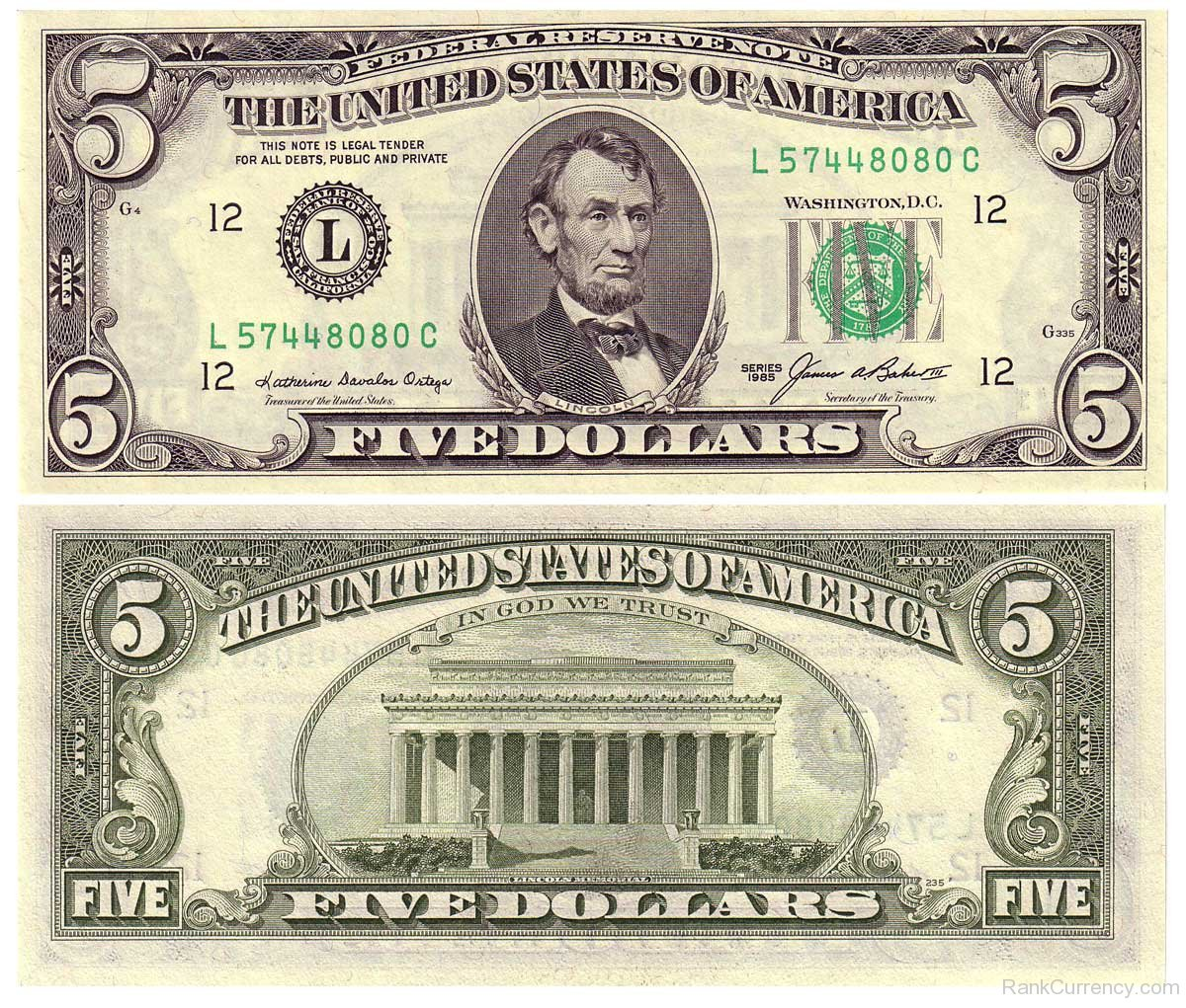 5 Us Dollar Bill