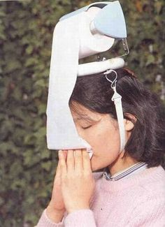 Head Mounted Toilet paper