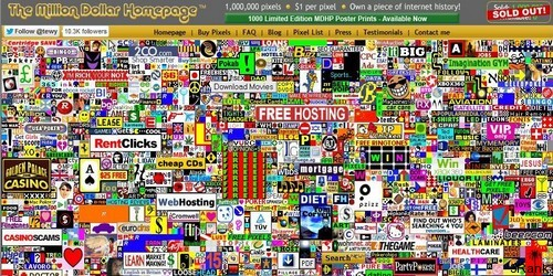 Million Dollar Homepage - Creative Ideas that got People Rich