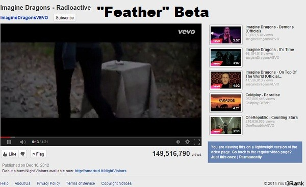 feather Beta youtube trick