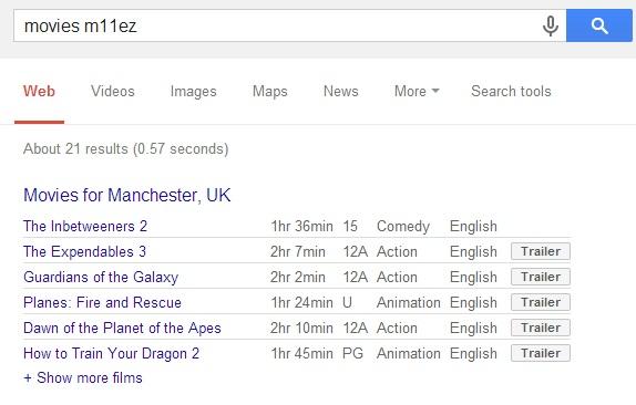 movies listing