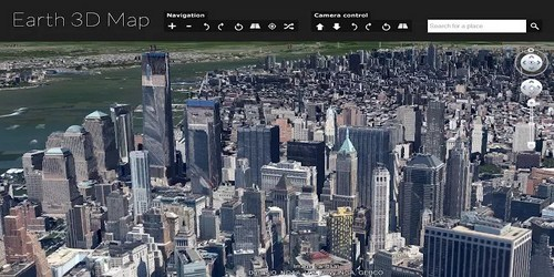 Earth 3d map