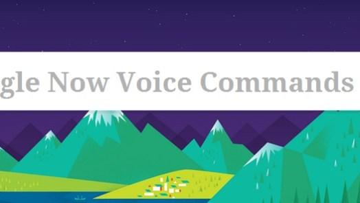 Google Now Voice Commands